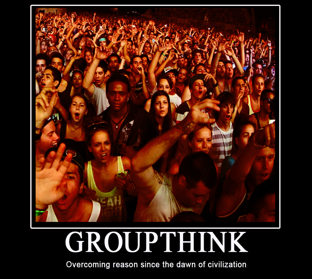 groupthink examples Groupshift is a phenomenon in which the initial positions of individual members of a group are exaggerated toward a more extreme position when people are in groups, they make decisions about risk differently from when they are alone.
